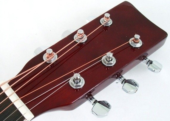 gitara akustyczna MSA MODEL CW 160 BRĄZOWY PODPALANY
