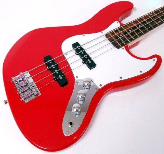 gitara basowa ADELITA - GT101R BASS / CZERWONA