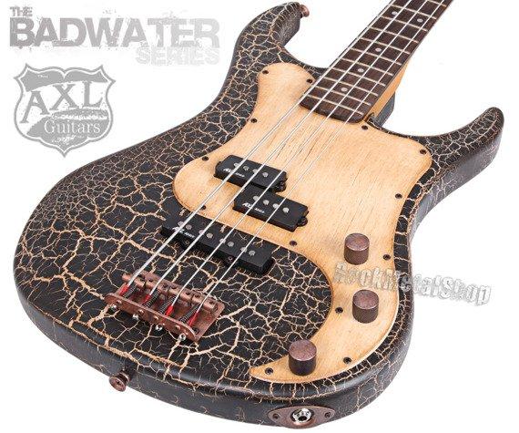gitara basowa AXL BADWATER / BLACK CRACKLE