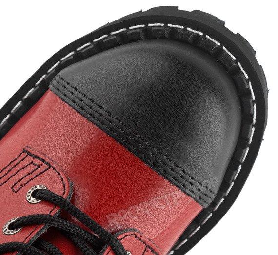 glany STEEL - BLACK (nos+pięta) / FULL RED (10 dziurek)