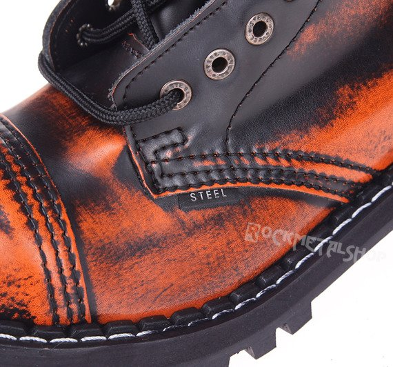 glany STEEL - ORANGE / BLACK (15 dziurek)