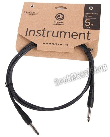 kabel gitarowy 1,52m PLANET WAVES CLASSIC jack prosty/prosty (PW-CGT-05)