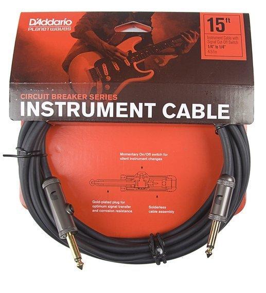 kabel gitarowy 4,57m PLANET WAVES CIRCUIT BREAKER jack prosty/prosty (PW-AG-15)
