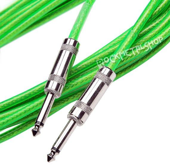 kabel gitarowy ACOUSTICS 3m jack prosty-prosty / zielony