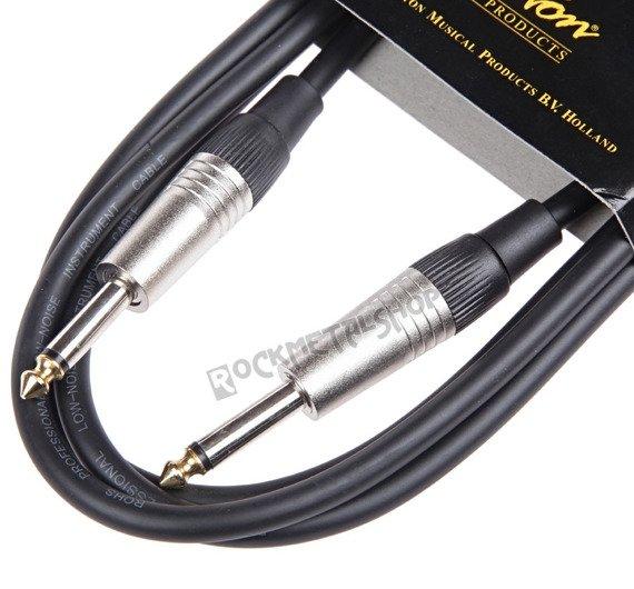 kabel gitarowy BOSTON GC-105-3BK BLACK 3m jack prosty/prosty