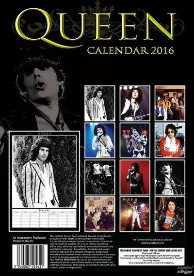 kalendarz QUEEN 2016