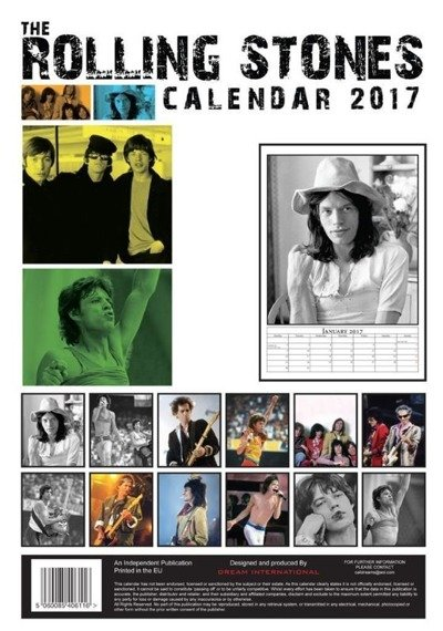 kalendarz ROLLING STONES 2017