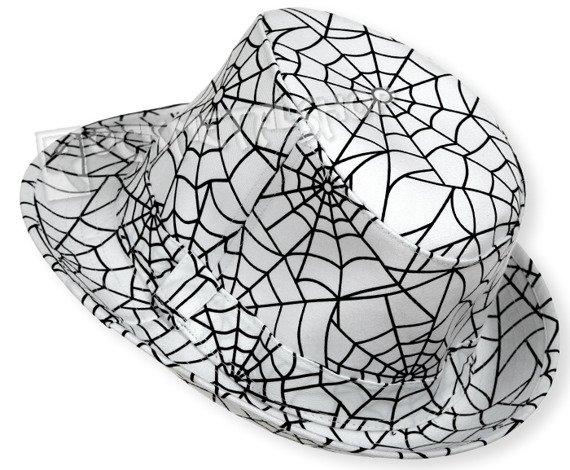 kapelusz ROCK DADDY - SPIDER'S WEB WHITE