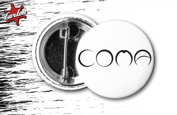 kapsel COMA - LOGO biało-czarny