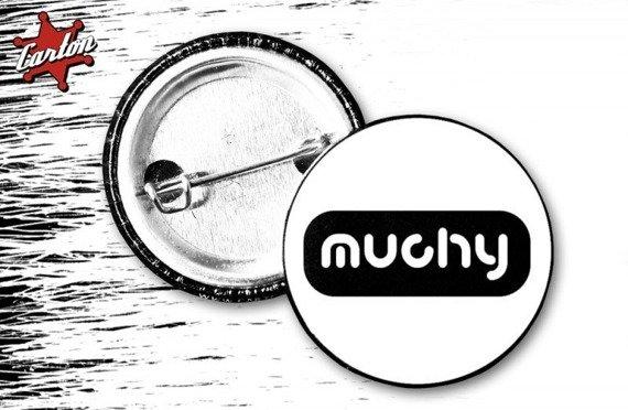 kapsel MUCHY - LOGO biało-czarny