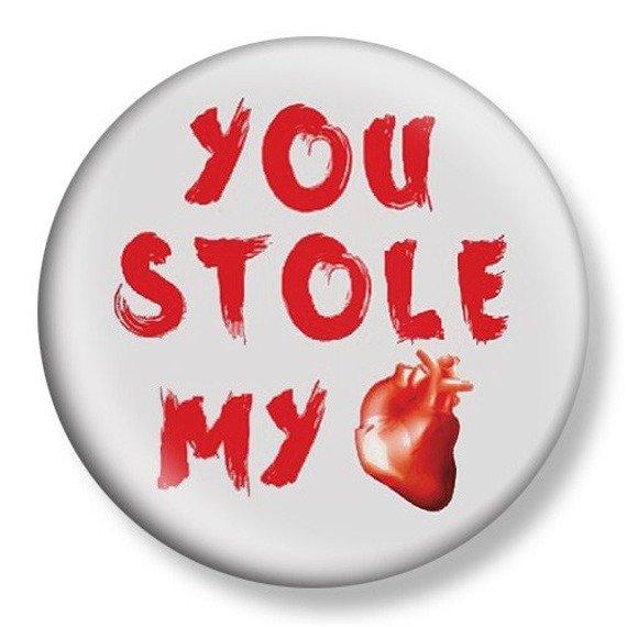 kapsel średni YOU STOLE MY HEART Ø38mm