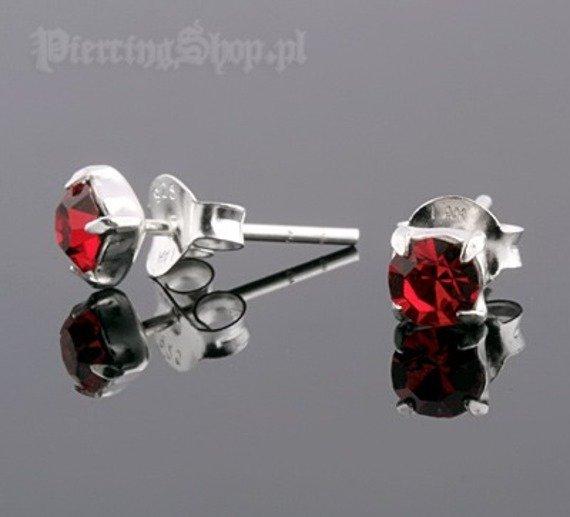 kolczyki do uszu CYRKONIA RED [STF-253]
