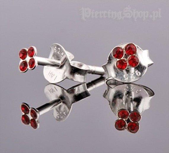 kolczyki do uszu KWIATEK RED [STF-219]