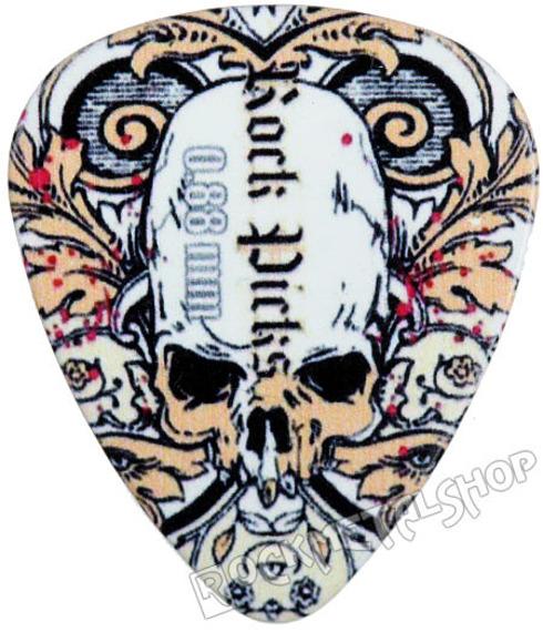 kostka gitarowa ROCK PICK - SKULL IN LEAVES