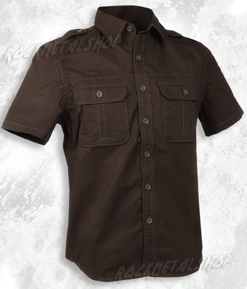 koszula 1/2 PLAIN SUMMER brown (06-3592-01)