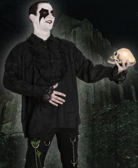koszula GOTYCKA czarna
