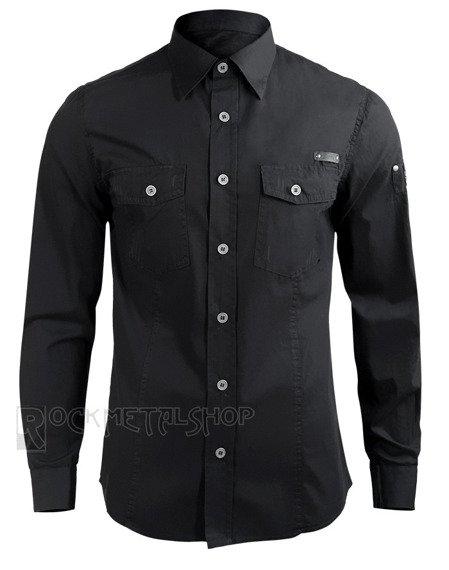 koszula MEN SHIRT SLIM - BLACK