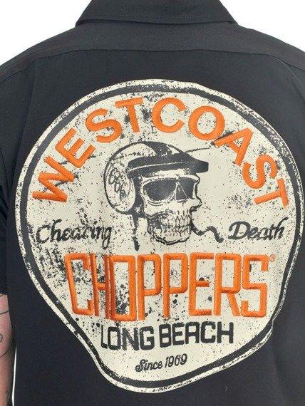 koszula WEST COAST CHOPPERS - CHEATING DEATH BLACK