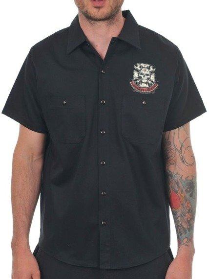 koszula WEST COAST CHOPPERS - MECHANIC BLACK