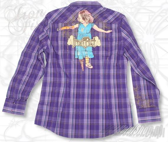 koszula damska  IRON FIST - PEG LEG  (PURPLE PLAID)