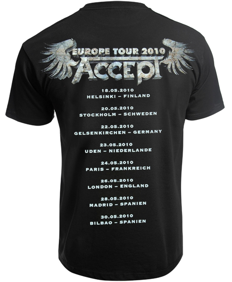 koszulka ACCEPT - THE LEGEND IS BACK TOUR 2010