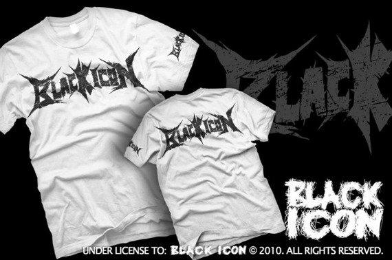 koszulka BLACK ICON - LOGO (MICON038 WHITE)