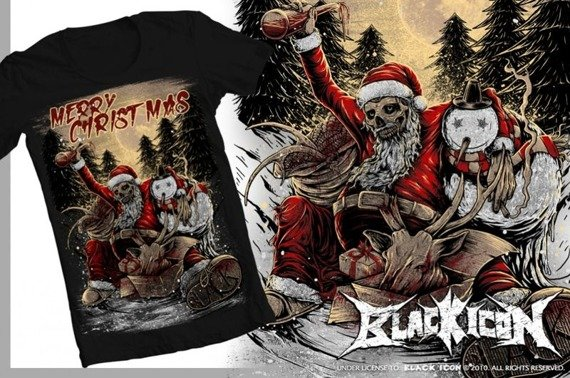 koszulka BLACK ICON - MERRY CHRISTMAS (MICON042 BLACK)