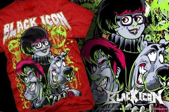 koszulka BLACK ICON - SCOOBY (MICON008 RED)