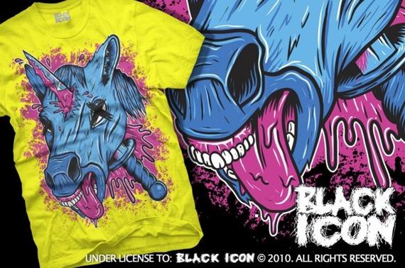 koszulka BLACK ICON - UNICORPSE żółta (MICON105 YELLOW)