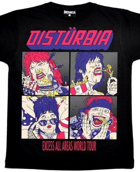 koszulka DISTURBIA - EXCESS ALL AREAS