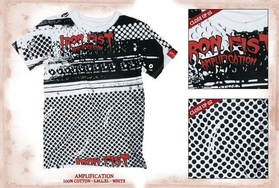 koszulka IRON FIST(AMPLIFICATION-WHITE)