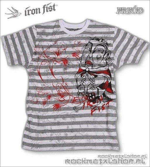 koszulka IRON FIST - EXORCISE YOURSELF YARN DYE (WHITE/GRAY/HEATHER)
