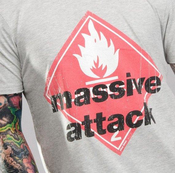 koszulka MASSIVE ATTACK szary melanż
