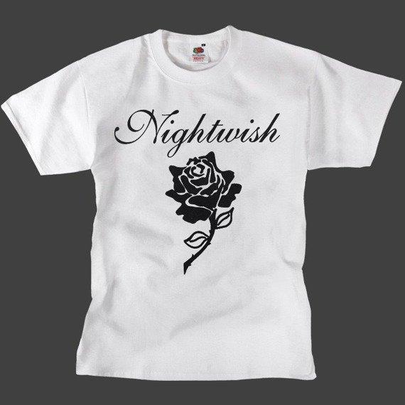 koszulka NIGHTWISH - BLACK ROSE biała
