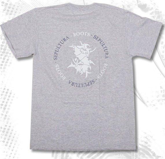 koszulka SEPULTURA - ROOTS szary melanż