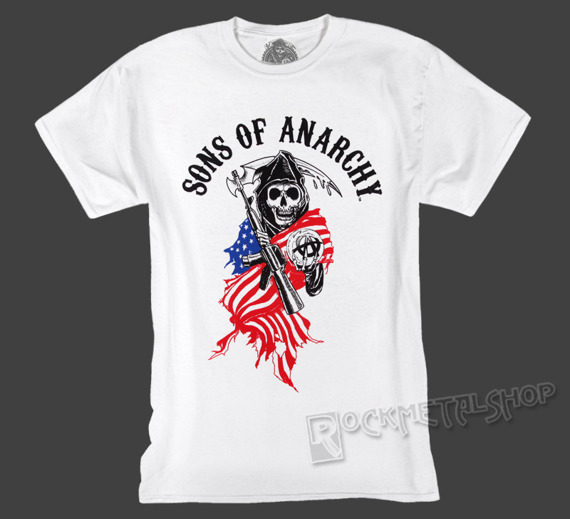 koszulka SONS OF ANARCHY - REAPER LOGO USA