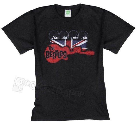 koszulka THE BEATLES - GUITAR & FLAG