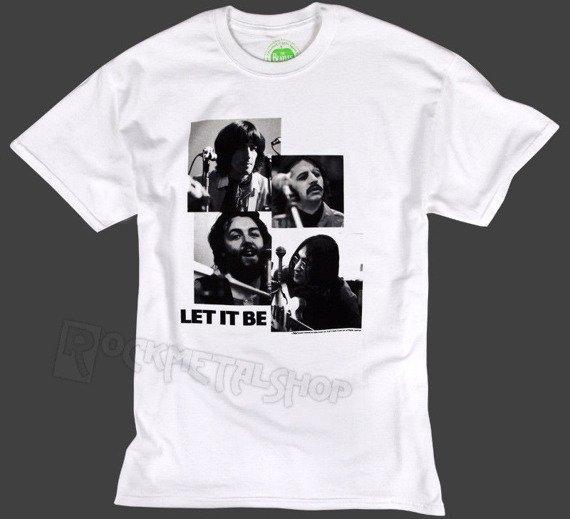 koszulka THE BEATLES - LET IT BE biała