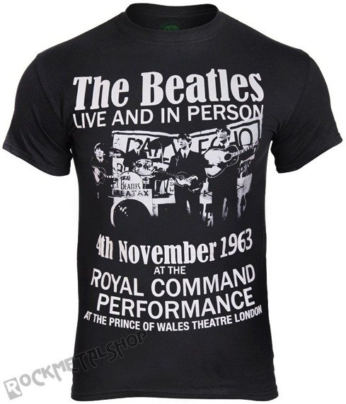 koszulka THE BEATLES - LIVE AND IN PERSON