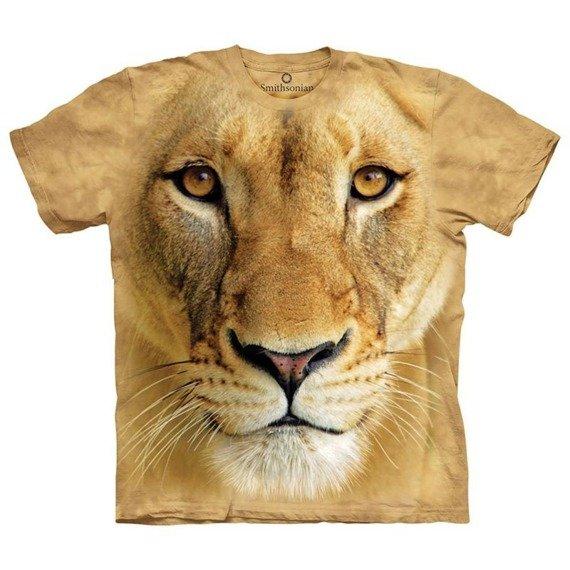 koszulka THE MOUNTAIN - BIG FACE LIONESS, barwiona
