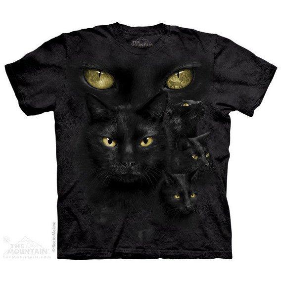koszulka THE MOUNTAIN - BLACK CAT MOON, barwiona