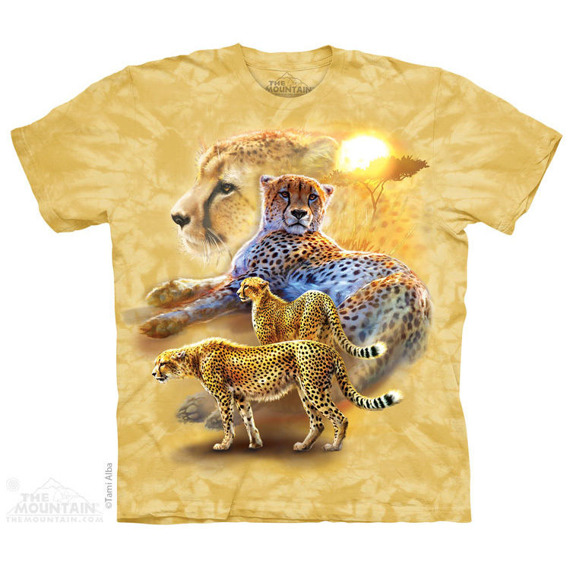 koszulka THE MOUNTAIN - SERENGETI GOLD CHEETAH, barwiona