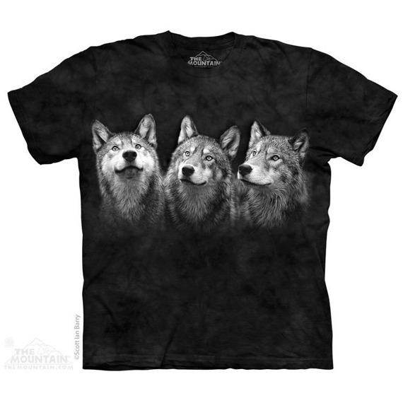 koszulka THE MOUNTAIN - TRIAD THREE WOLVES, barwiona