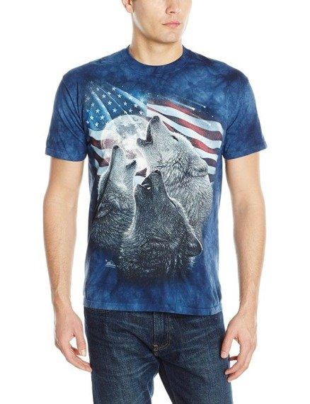 koszulka THE MOUNTAIN - WOLF TRINITY AMERICA, barwiona