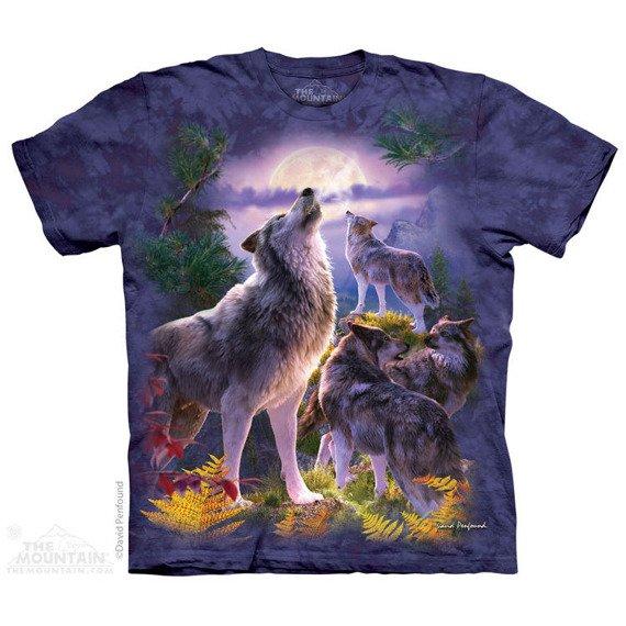 koszulka THE MOUNTAIN - WOLFPACK MOON WOLVES, barwiona