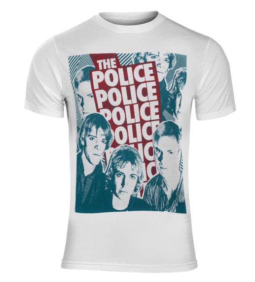 koszulka THE POLICE - HALFTONE FACES