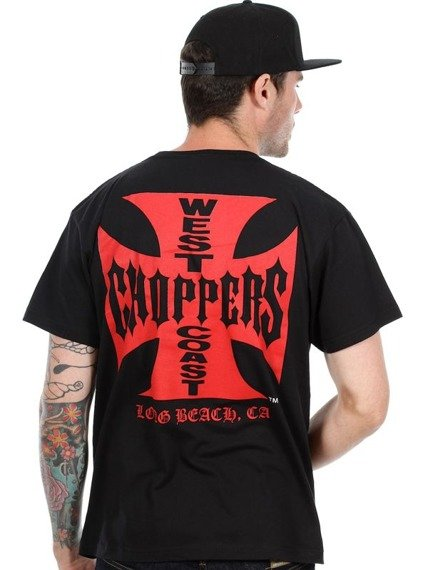 koszulka WEST COAST CHOPPERS - IRON CROSS RED BLACK
