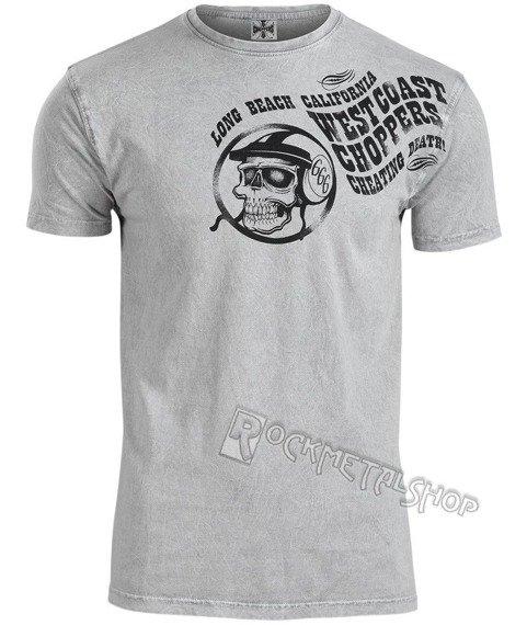 koszulka WEST COAST CHOPPERS - OLD SCHOOL vintage grey