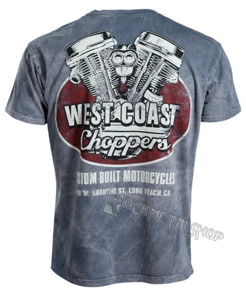 koszulka WEST COAST CHOPPERS - PANHEAD vintage blue