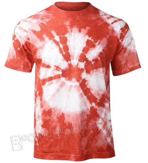 koszulka barwiona CZERWONO BIAŁA